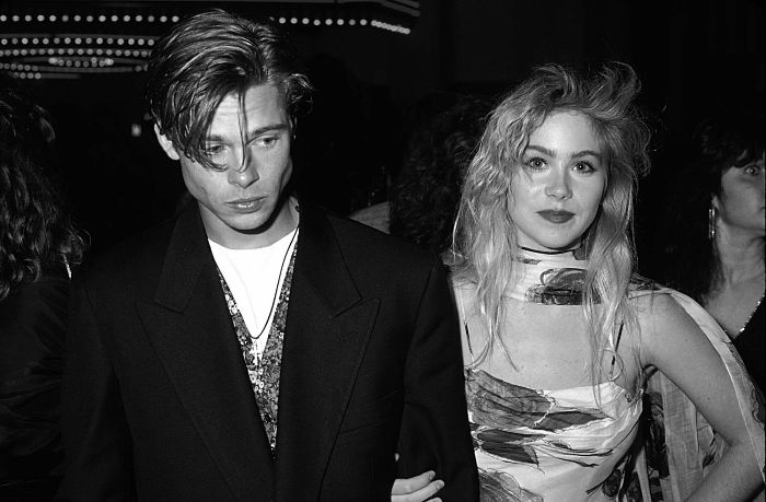 Christina Applegate with Brad Pitt